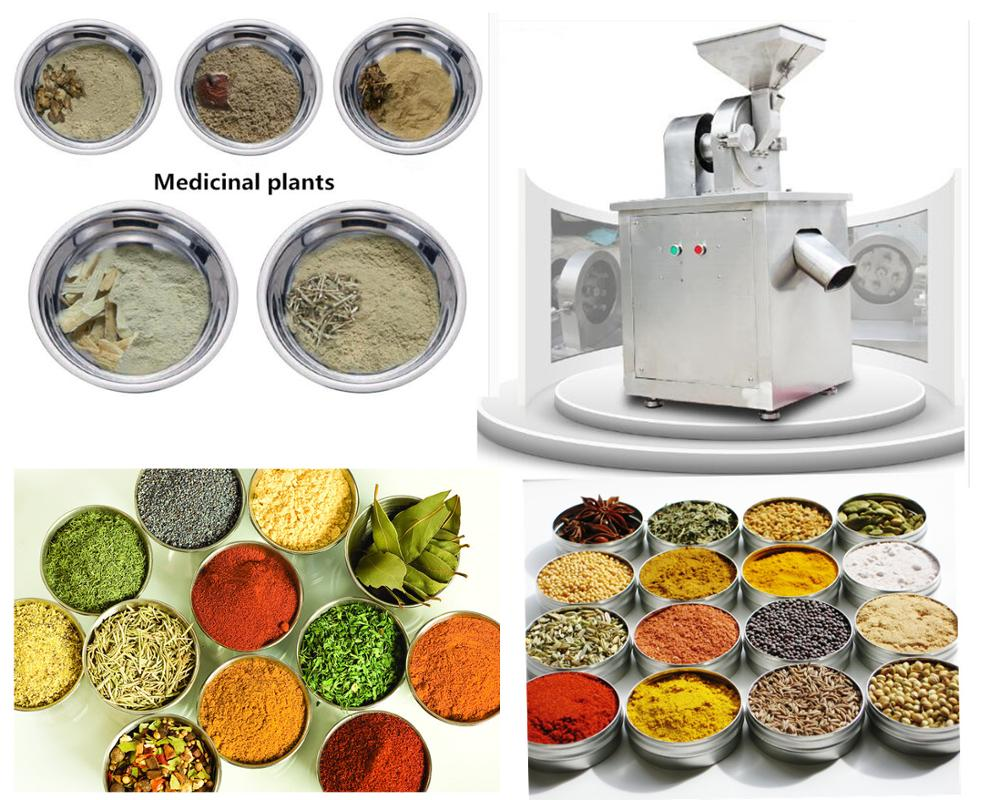 Dried fruits vegetables food herbs spices grains dust-free universal pulverizing machine masala maqui pulverizer grinder
