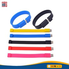 Great quality wristband ruber pen drive foldable soft silicone bracelet usb flash drive