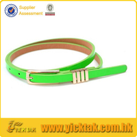 Newest Cheap Candy Color Ladies Fashion PU Leather Belt