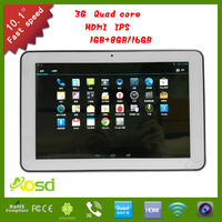 S108 aosd 3g dual camera Quad Core IPS Capacitive Touch 10.1 Inch Tablet PC