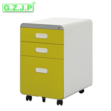 Round corner Plastic Drawer pull mobile Metal Office filing cabinet