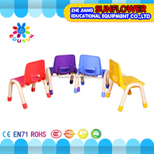 Multi-functional luxury kindergarten chair, variety color fastness children study plastic chair