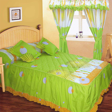 New design colorful comfortable quilted bedspread