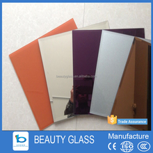 building mirror glass manufacture 6mm decorative two-way mirror glass