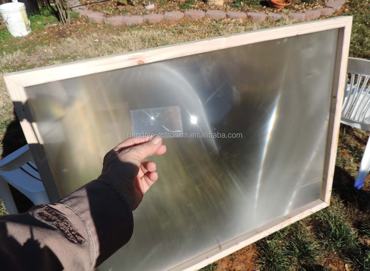 High power large plastic fresnel lens