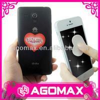 Novelty mobile accessory magic reusable mobile phone screen cleaner sticker