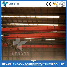 Smooth Moving Electric Hoist 5 Ton Single Girder Overhead Travelling Crane