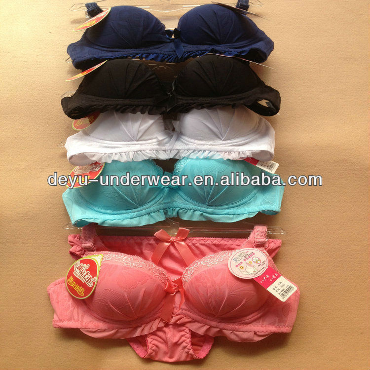 1.84USD 32-36A Cup High Quality Newest Style Hot-Sale Yough Girls Sexy Ladies Bra And Panties Girls/Panty (gdtz007)