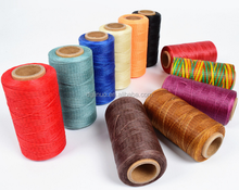 Flat waxed hand sewing threads