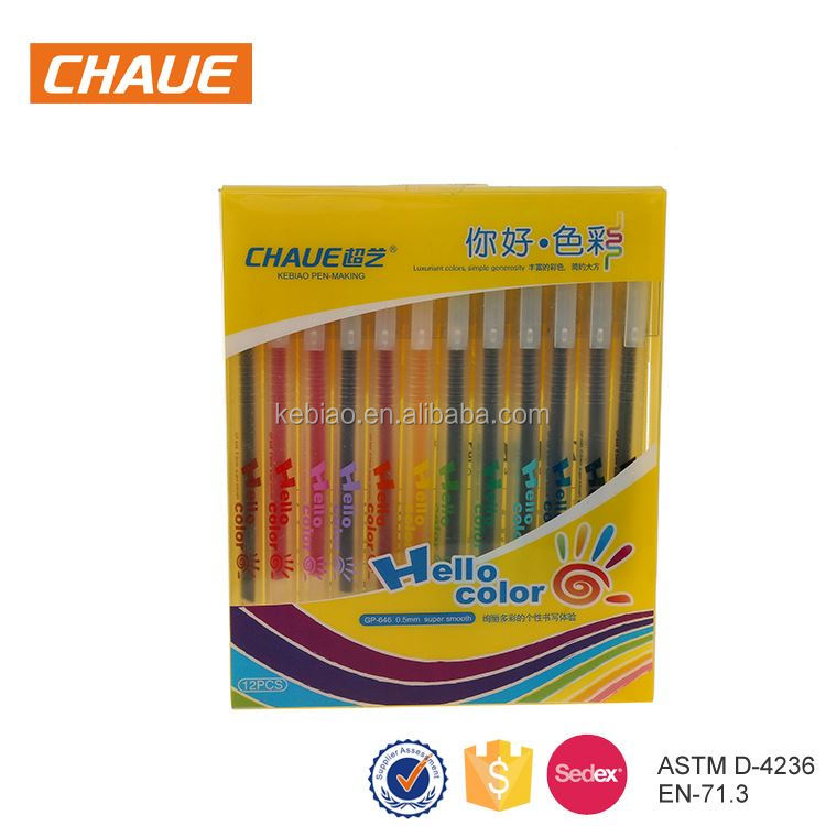 New coming personalized promotion gel pen set
