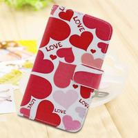 mix style color printed leather wallet phone case for Huawei Ascend P9