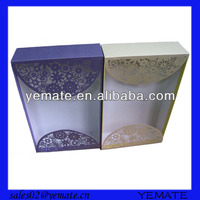 Luxurious wedding invitation custom box with nice flower cover
