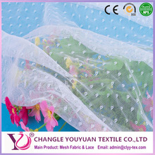 White Classic Round Dot Tulle Mesh fabric for Mosquito Net