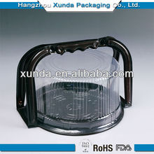 Customized round clear plastic packaging box for cake