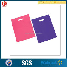 Pink Purple 100 Pack Biodegradable LDPE Glossy Die Cut Handle Retail Shopping Plastic Merchandise Bags