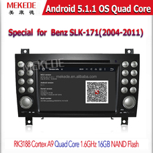 MEKEDE Quad-Core Android5.11 car DVD player gps navigatr for B enz SLK-171 With ipod bluetooth 3g wifi