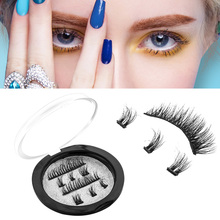 OEM acceptable low MOQ 100% siberian mink triple magnetic eyelashes/.