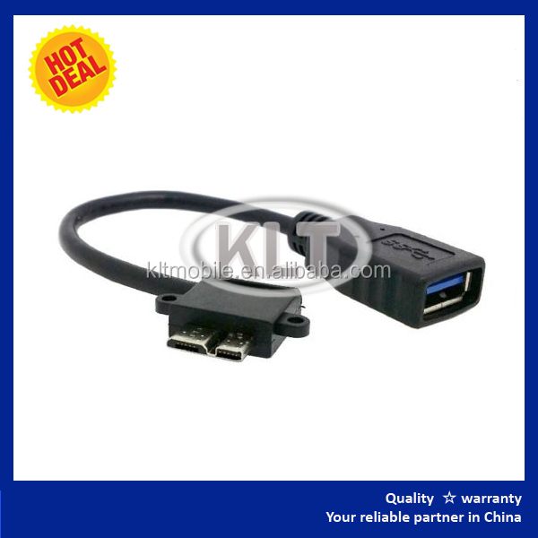 Elbow USB port 3.0 A female to micro male convert cable , Short OTG Host data