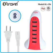 Portable Multi USB 6 Port Desktop Charger/ Rapid Charging Station with usb for Android Mobile Phone and Tablets