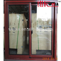 aluminum sliding tempered glass windows
