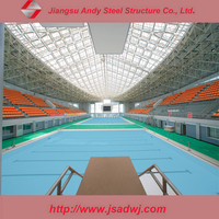 Andy low price steel structure swimming pool cover
