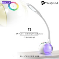 T3 256 living color light touch dimmer portable luminaire led table lamp,usb led lamp custom