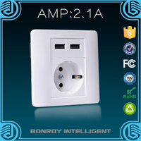 European style household electrical wall socket outlet