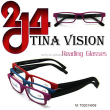 2014 italy design eyeglasses Plastic Fashional Reading Glasses AC Lens Frame (TD2014009)
