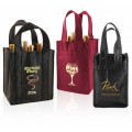 Competitive price high quality eco-friendly 4 bottles non woven liquor bag