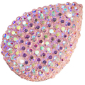 13*18mm sew on rhinestone crystal fuchsia color teardrop shape flatback stone with all star gless