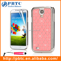 Set Screen Protector Stylus And Case For Samsung Galaxy S4 I9500 , Pink Cute Bling Luxury Case Phone