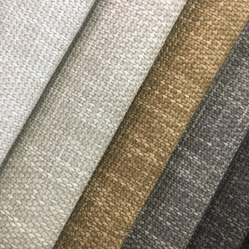 100% polyester linen look home textile fabric