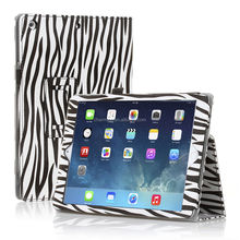 Zebra Leather Stand Cover For iPad Air iPad 5