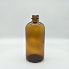High quality 16oz Empty amber boston round glass bottle G.<strong>P</strong>.I Finish