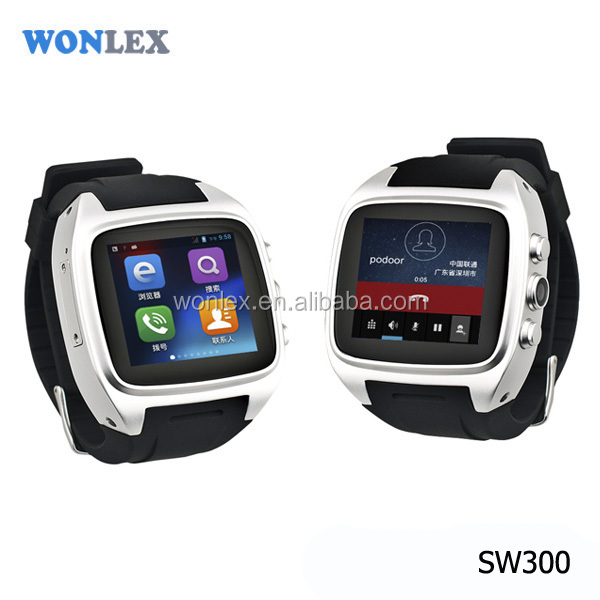 Wonlex CE/Rohs 3G WIFI Smart Watch Phone Android WCDMA GSM SIM Card Hand Watch Mobile Phone
