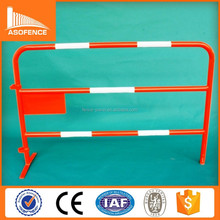 security pedestrian barrier panel /crossing Crowd Control Barrier riot roof with reflective railing professional factory