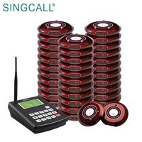 SINGCALL Fast Food Restaurant Queue Paging System Alphanumeric Coaster Pagers system
