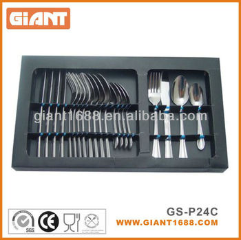 24pcs stainless steel flatware set,knife,fork spoon and tea spoon