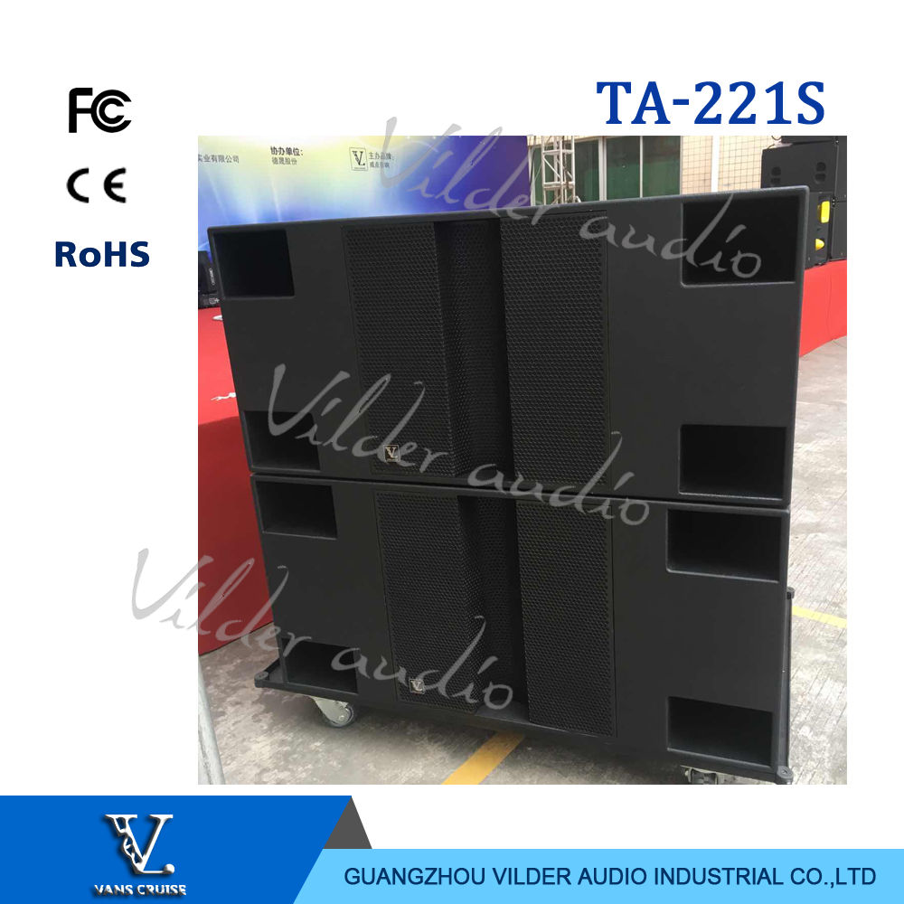 V. Audio Ta- 221s Big Speaker Subwoofer Double 21'' Outdoor Bass Woofer For Outdoor Big Show And Concert