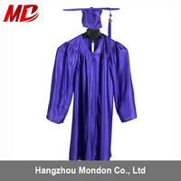Kindergarten Shiny Graduation Gown and Graduation Cap with tassel