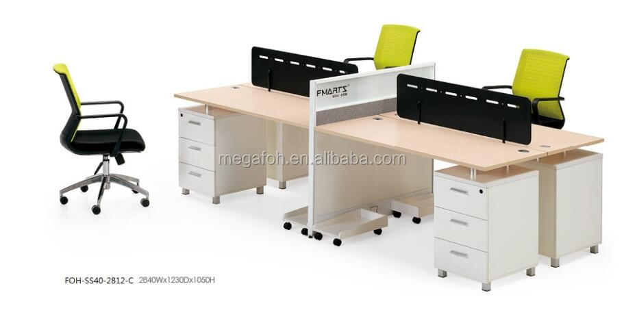 Office computer table models pictures images with price(FOH-SS40-2812-C)
