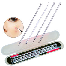 4-in-1 Professional Pimple Extractor Acne Comedone Removal Tool Set Blackhead Remover Kit
