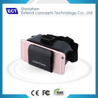 Customized Colorful Vr Glasses 3D For Mobile Phone Video Viewing
