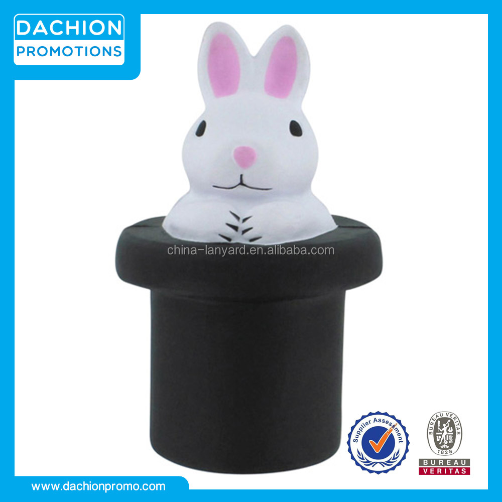 Logo Customzied Magic Rabbit Stress Reliever/Magic Rabbit Stress Ball/Magic Rabbit Stress Toy