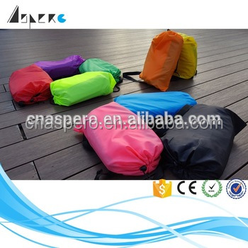 2016 Portable camping chair banana sleeping bag inflatable sleeping bag with OEM brand logo
