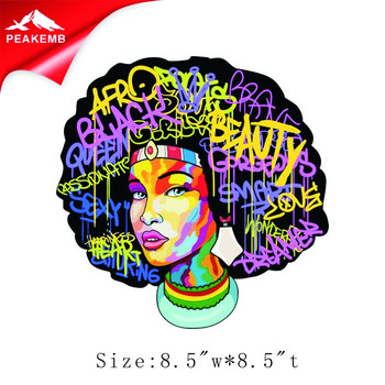 Wholesale 25pcs Afro girl transfer heat transfer printing designs