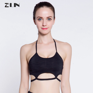 2018 New design Sexy Yoga Wear Lycra Workout Gym Quick Dry Wholesale Ladies Sports Bra