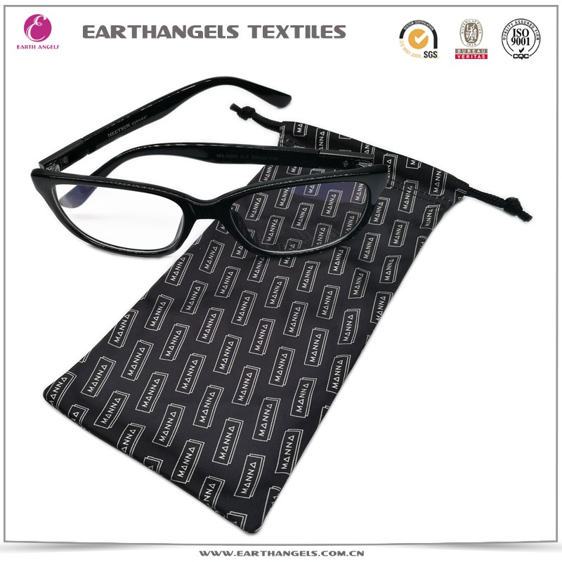 Custom premium materials microfiber eyeglasses/eyewear pouch with logo