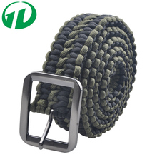 Greenday 2017 Hand-made Survival Paracord Parachute Cord Belt with Solid Steel Buckle
