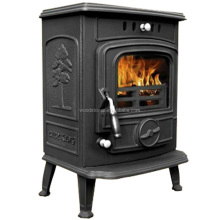 Tiny Compact Attractive Cast Iron Construction Godin Wood Stove